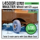 WW2 German L4500 R Maultier Wheel set 2 (for Zvezda 1/35)
