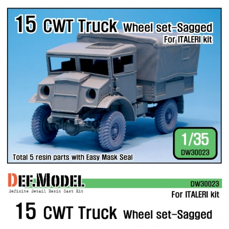 WW2 15 CWT Truck wheel set (for Italeri 1/35)
