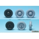 WW2 11CV Staff car Sagged wheel set (1) (for Tamiya 1/35)