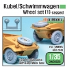 WW2 German VW Wheel set (for Tamiya 1/35)