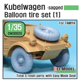 WW2 German VW Desert type Wheel set 1 (for Tamiya 1/35)