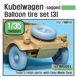 WW2 German VW Desert type Wheel set 3 (for Tamiya 1/35)