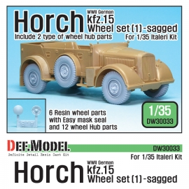 WW2 German Horch kfz.15 Wheel set 1 ( for Italeri 1/35)