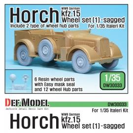 WW2 German Horch kfz.15 Wheel set 1 ( for Italeri 1/35)