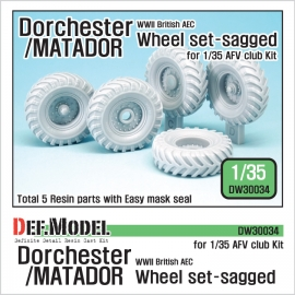 WW2 British AEC Dochester/Matador Sagged Wheel set ( for AFVclub 1/35)