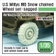 US Willys MB wheel /w Snow chain set ( for Tamiya/Dragon/Bronco 1/35)