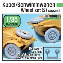 WW2 German Wagen Wheel set 2(dw30003) (for Tamiya, AFV Club 1/35)