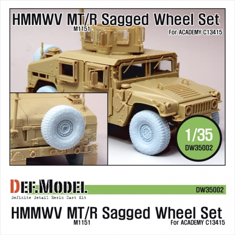HMMWV MT/R Wheel set  (for Academy 1/35 M1151)