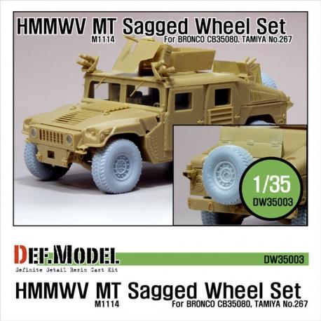HMMWV MT Sagged Wheel set -Sagged (for Bronco 1/35 M1114)