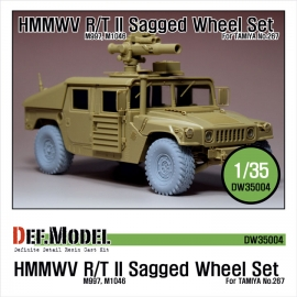 HMMWV R/T II  Sagged Wheel set Sagged (for Tamiya 1/35 M1046)