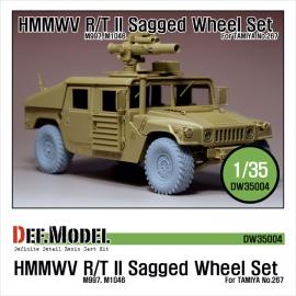 HMMWV R/T II  Sagged Wheel set Sagged (for Tamiya 1/35 M1046)