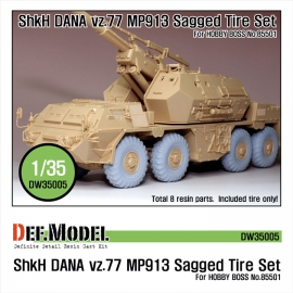 CZ DANA ShKH Vz.77 MP913 Sagged Tire set (for Hobbyboss 1/35)