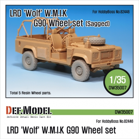 LRD XD Wolf 'W.M.I.K' G90 Sagged Wheel set (for Hobbyboss 1/35)