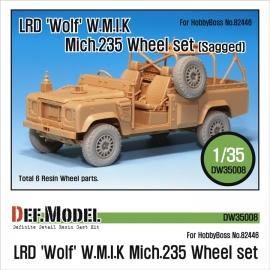 LRD XD Wolf 'W.M.I.K' Mich.235 Sagged Wheel set (for Hobbyboss 1/35)