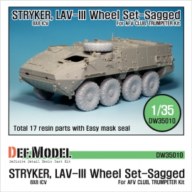 Stryker/LAV-III Mich. XML Sagged Wheel set (for AFV Club/Trumpeter 1/35)