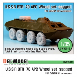 BTR-70 APC Sagged Wheel set (for Zvezda 1/35)