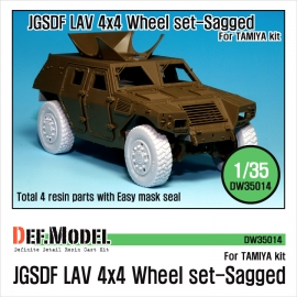 GSDF LAV 4x4 Sagged Wheel set (for Tamiya 1/35)