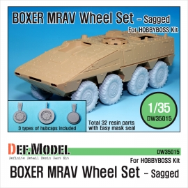 GTK Boxer MRAV Sagged Wheel set (for Hobbyboss 1/35)