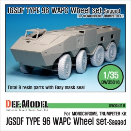 JGSDF Type 96 WAPC Sagged Wheel set (for Trumpeter 1/35)