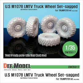 M1078 LMTV Truck Sagged Wheel set (for Trumpeter 1/35)