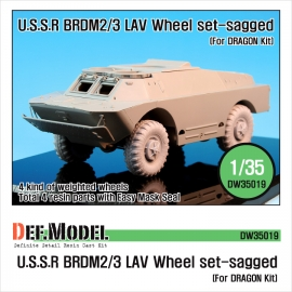 BRDM-2/3 LAV Sagged Wheel set (for Dragon 1/35)