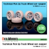 Technical Pick up Truck Sagged wheel set (for Meng 1/35)