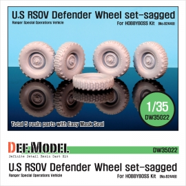 U.S RSOV Defender Sagged wheel set (for Hobbyboss 1/35)