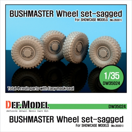 IMV bushmaster Sagged wheel set (for Showcase 1/35)