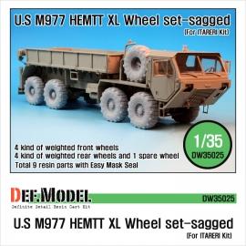 "M977 HEMTT ""XL"" Sagged Wheel set (for Italeri 1/35)"