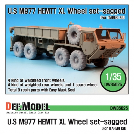"M977 HEMTT ""XL"" Sagged Wheel set (for Italeri 1/35)"