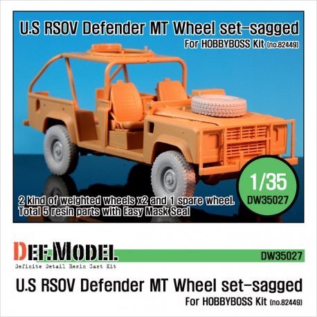 "U.S RSOV Defender ""MT"" Sagged wheel set (for Hobbyboss 1/35)"