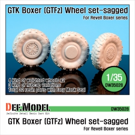 GTK Boxer (GTFz) Sagged Wheel set (for Revell 1/35)