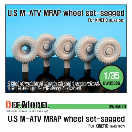 U.S M-ATV Sagged wheel set (for Kinetic 1/35)