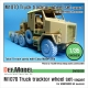 M1070 Truck Tractor Sagged wheel set (for Hobbyboss 1/35)