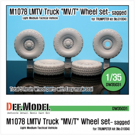 "M1078 LMTV Truck ""MV/T"" Sagged Wheel set (for Trumpeter 1/35)"