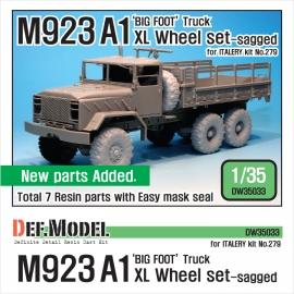 M923A1 BIG FOOT Truck Mich. XL Sagged Wheel set (for Italeri 1/35)