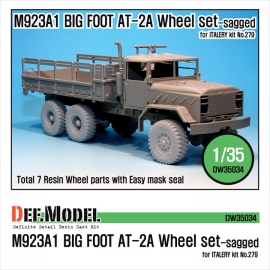 M923A1 BIG FOOT Truck GY AT-2A Sagged Wheel set (for Italeri 1/35)