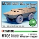 U.S M706(V100) Commando sagged wheel set (for Hobbyboss 1/35)