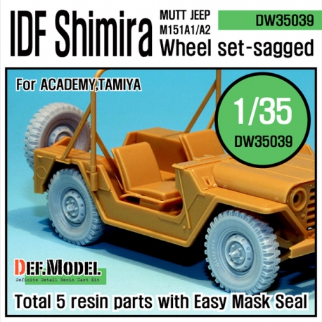IDF M151 Shimira sagged wheel set (for Academy 1/35)
