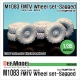 US M1083 FMTV Truck Mich.XL Sagged Wheel set (for Trumpeter 1/35)