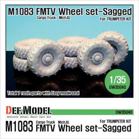 US M1083 FMTV Truck Mich.XL Sagged Wheel set (for Trumpeter 1/35)