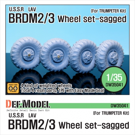 BRDM-2 Sagged Wheel set (for Trumpeter 1/35)