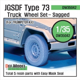 JGSDF Type 73 Light Truck Sagged Wheel set (for Trumpeter 1/35)