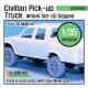 Civilian Pick up Truck Sagged wheel set 3 (for Meng 1/35)