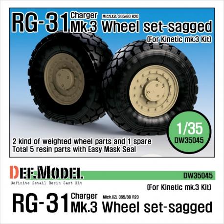 RG-31 Mk.3 Sagged Wheel set (for Kinetic 1/35)