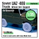 Soviet UAZ-469 Sagged Wheel set (for Trumpeter 1/35)