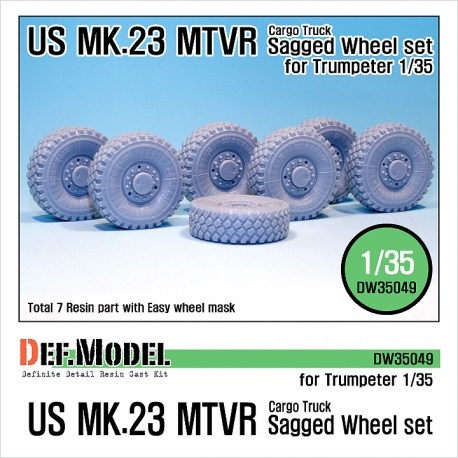 US MK.23 MTVR Sagged Wheel set (for Trumpeter 1/35)