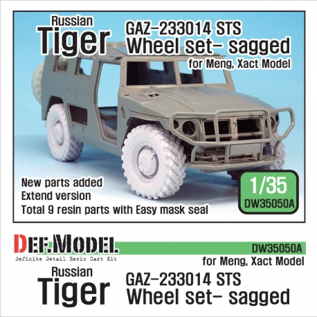 GAZ-233014 STS Tiger Sagged Wheel set (for Meng,Xact 1/35)