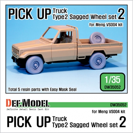 Pick up truck Type 2 Sagged Wheel set 2 (for Meng VS004 1/35)