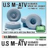 US Army M-ATV 'Big' Sagged Wheel set (for Panda 1/35)